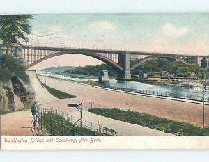 Pre-1907 SPEEDWAY BY WASHINGTON BRIDGE New York City NY A3462