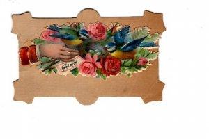 Victorian 2 X 3 inch. Calling Card, Name Ada E Lutes