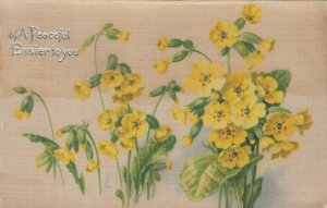 Silk; A Peaceful EASTER to you, Yellow Flowers, PU-1907