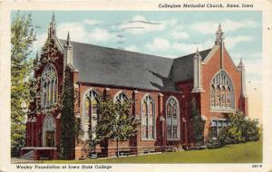Ames Iowa State University-Collegiate Methodist Church~Wesley Foundation~1944 Pc
