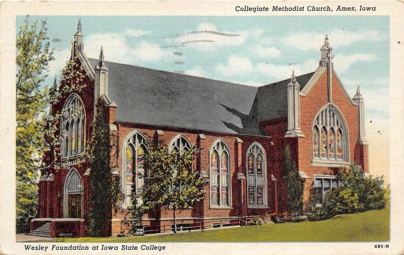 Ames Iowa State University-Collegiate Methodist Church~Wesley Foundation~1944 Pc