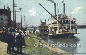 JS Excursion Steamer Ferry Boats, Ship, Ships, Postcard Post Cards  JS Excurs...