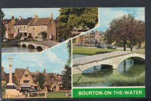 Gloucestershire Postcard - Views of Bourton-On-The-Water     T7193
