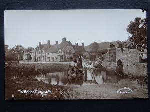 Kent EYNSFORD The Bridge & Local Water Cart -  Old RP Postcard by R. Gee