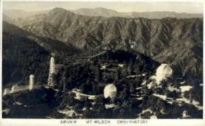 Real photo, Mt. Wilson Observatory