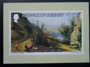 Bailiwick of Guernsey MOULIN HUET c1850 1-B 1980 Christmas Postcard
