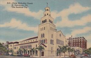 Florida St Petersburg Christ Methodist Church Curteich