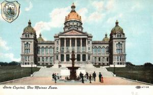 Des Moines, Iowa, IA, State Capitol, Antique Vintage Postcard g823