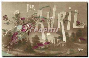 Old Postcard Fantasy Poisson April 1st