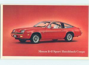 Unused 1979 car dealer ad postcard CHEVROLET MONZA 2+2 SPORT COUPE o8454-22