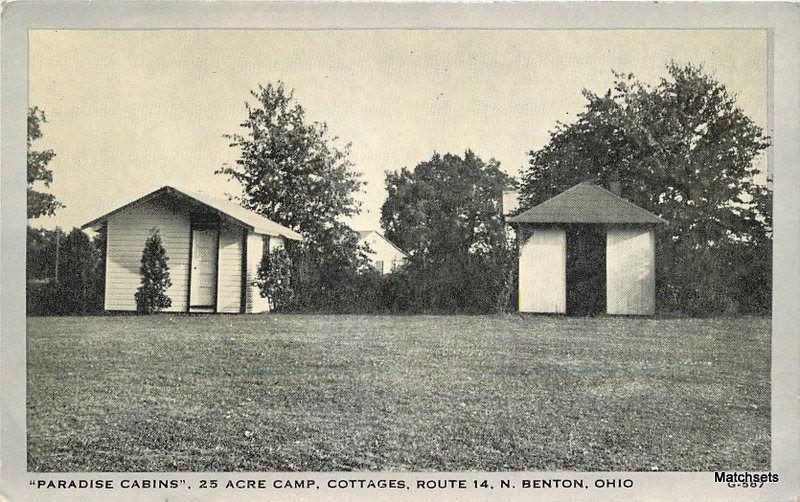 Paradise cabins 25 acre camp benton ohio postcard 5597 for Camp joy ohio cabins