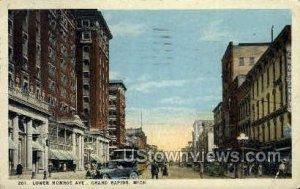 Lower Monroe Street in Grand Rapids, Michigan