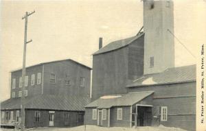 St Peter Minnesota~Flour Roller Mills~Sacks Stacked on Porch~Elevato~1910 B&W PC