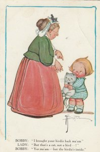 Viola Grace Gebbie Wiederseim Drayton; Child with cat & Older Woman , 00-10s