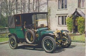Austin Landaulette at Cheddar Motor Museum 1908 18 24 HP Rare Car Photo Postcard