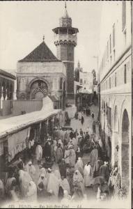 Tunis Rue Sidi Ben Ziad market place Tunisia