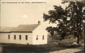 Barkhamsted CT School on the Green c1910 Real Photo Postcard
