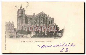Old Postcard Le Mans Cathedral Apse