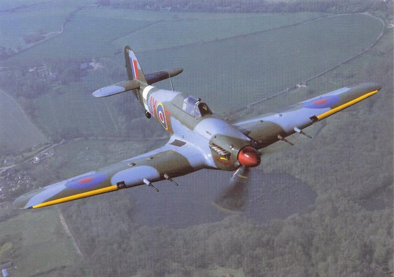 Postcard Hurricane PZ865 Aircraft Battle of Britain Memorial Flight No.9