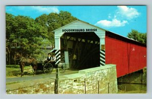 Lancaster PA- Pennsylvania, The Soudersburg Bridge, Chrome Postcard