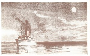 Postcard Titanic crossing the English Channel 10th April 1912 to Cherbourg BZ8
