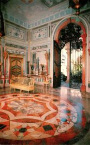 Florida Miami Vizcaya Dade County Art Museum Tea Room With Glimpse Of Courtyard