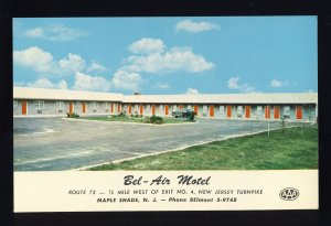 Maple Shade, New Jersey/NJ Postcard, The Bel-Air Motel, Classic 1960's View