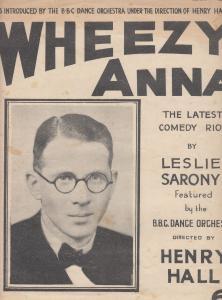 Wheezy Anna Leslie Sarony 1930s Sheet Music