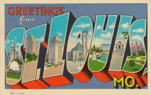Large Letter Greetings, ST. LOUIS, Missouri , 1952