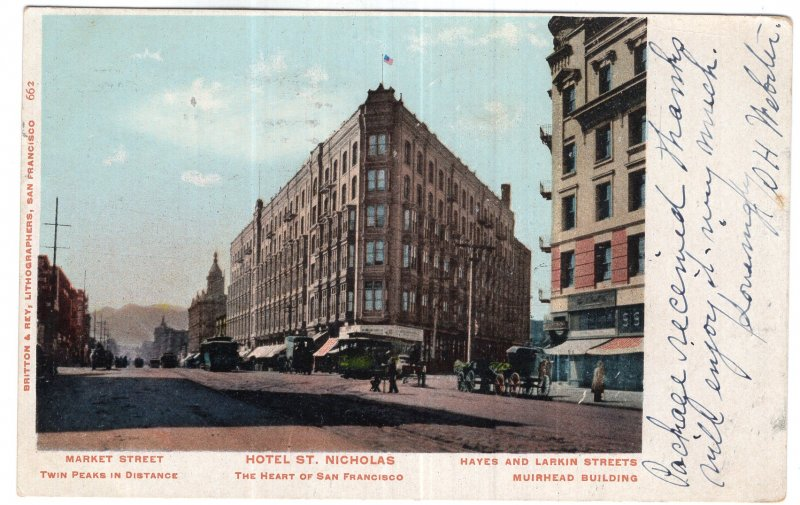 The Heart of San Francisco, Market Street, Hotel St. Nicholas