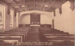 Califorinia Oakland Melden Memorial Chapel Baulah Rest Home Artvue