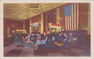 Illinois Chicago Bismarck Hotel Lounge 1946