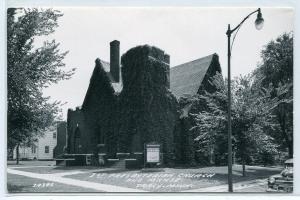 First Presbyterian Church & Manse Tracy Minnesota Real Photo RPPC 1950s postcard