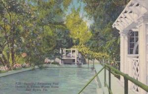 Florida Fort Myers Beautiful Swimming Pool At Thomas A Edison Winter Home Cur...