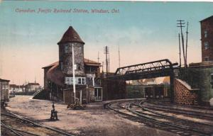 Canadian Pacific Railroad Station, Windsor, Ontario, Canada, PU-1922