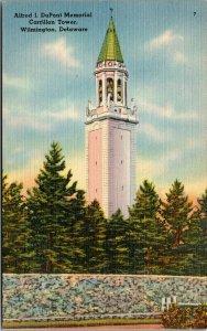 Vtg 1930s Alfred DuPont Memorial Carrillon Tower Wilmington Delaware DE Postcard