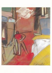 RB Kitaj Jewish Artist A Retrospective Tate Gallery Exhibition Painting Postcard