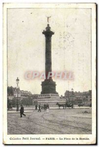 Old Postcard Paris Place De La Bastille July Column
