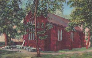 Rear View Of Church Jamestown Virginia Curteich