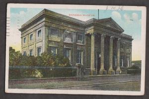 Swansea Museum, Swansea Wales - Used 1907 - Stamp Missing