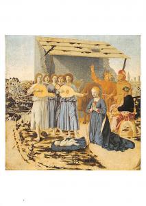 The Nativity Piero della Francesca Oil on pupular, London, Life of Christ