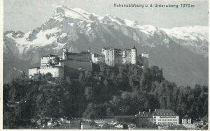 Postcard Germany Hohensalzburg Untersberg castle view mountain