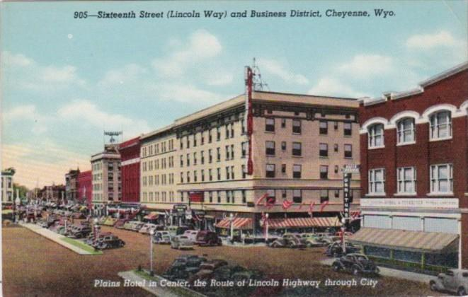 Wyoming Cheyenne Sixteenth Street Lincoln Way and Business District