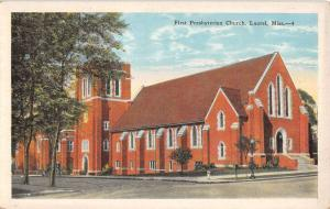 Laurel Mississippi First Presbyterian Church Antique Postcard K39177