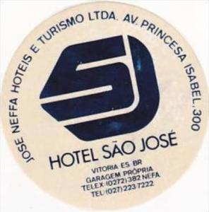 BRASIL VITORIA HOTEL SAO JOSE VINTAGE LUGGAGE LABEL