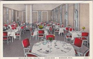 Michigan Muskegon Occidental Hotel Dining Room Curteich sk2707