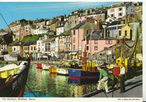 Devon Postcard - The Harbour - Brixham - Ref 19180A