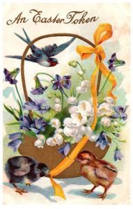 Easter,  Chicks and Bluebirds , birds