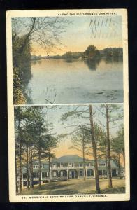 Danville, Virginia/VA Postcard, Merriwold Country Club, 1918!