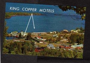 MI King Copper Motel Keweenaw County Michigan Copper Harbor Postcard
